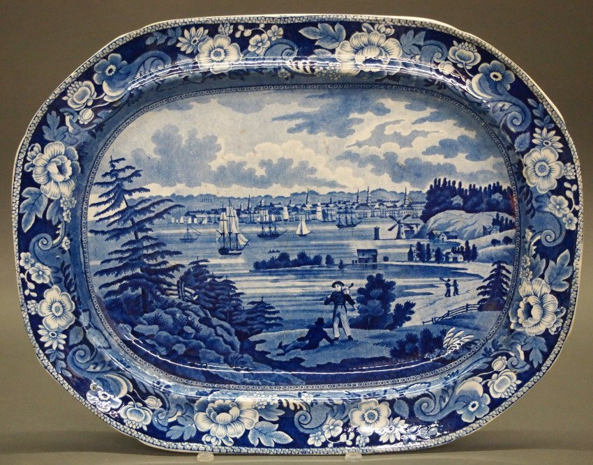 New York Historical platter