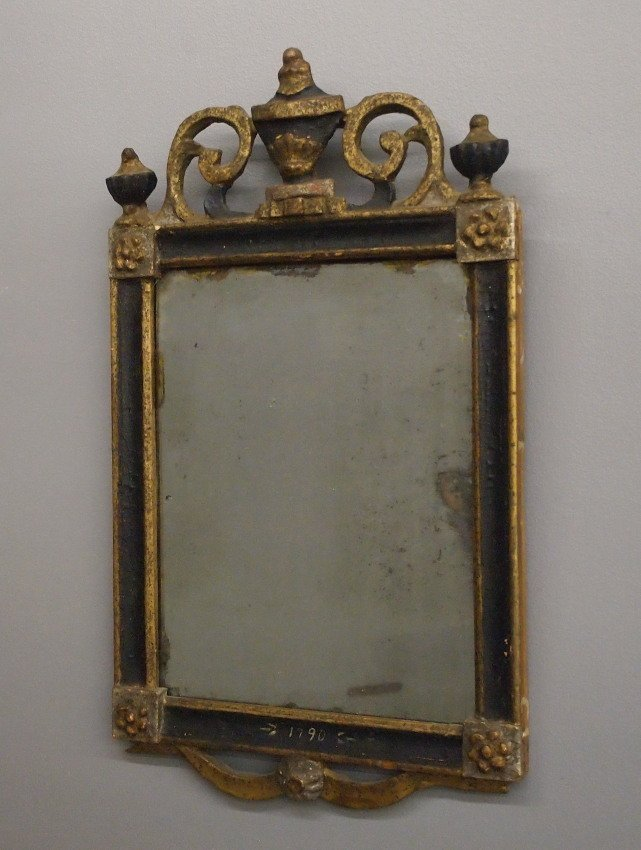 18th c Painted mirror