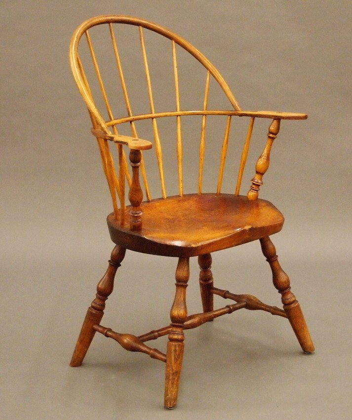 New England sack back Windsor armchair