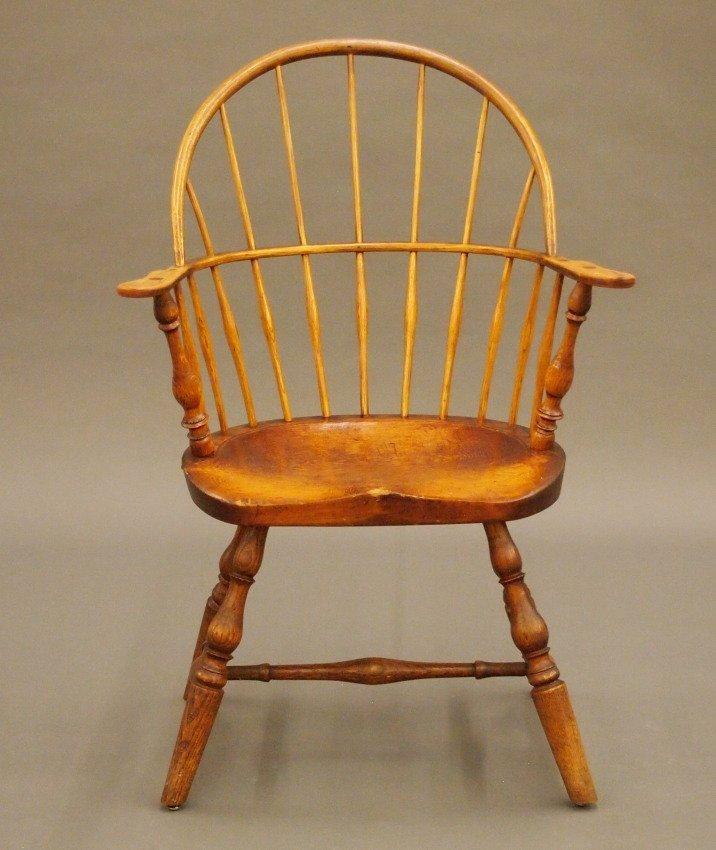 New England sack back Windsor armchair - 2