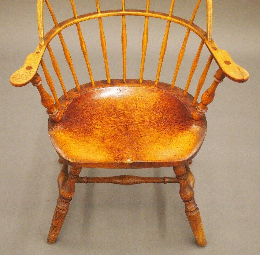 New England sack back Windsor armchair - 3