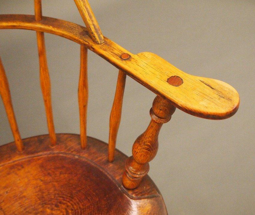 New England sack back Windsor armchair - 4