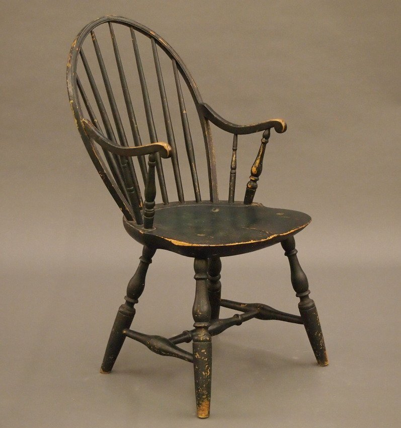 New England bow back Windsor armchair