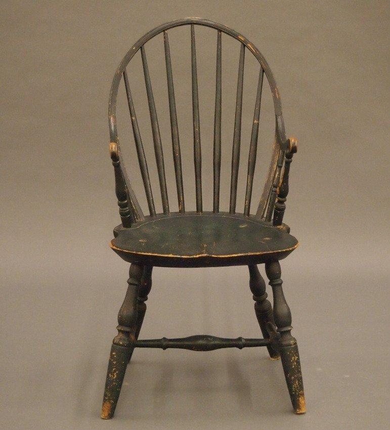 New England bow back Windsor armchair - 2