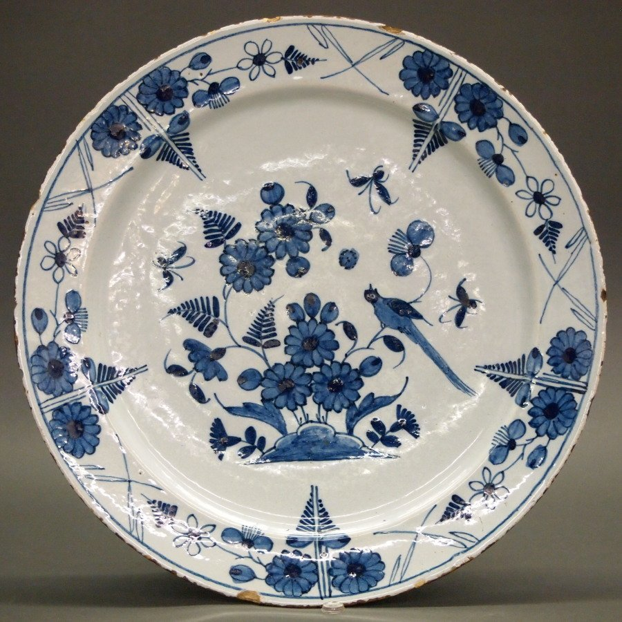 18th c. Delft ware Charger