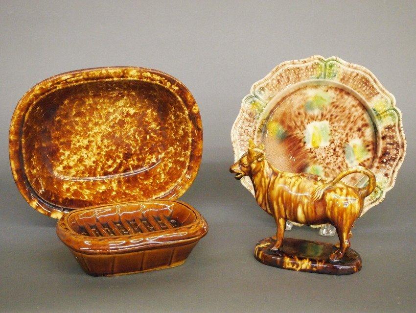 4 pcs Glaze color ware