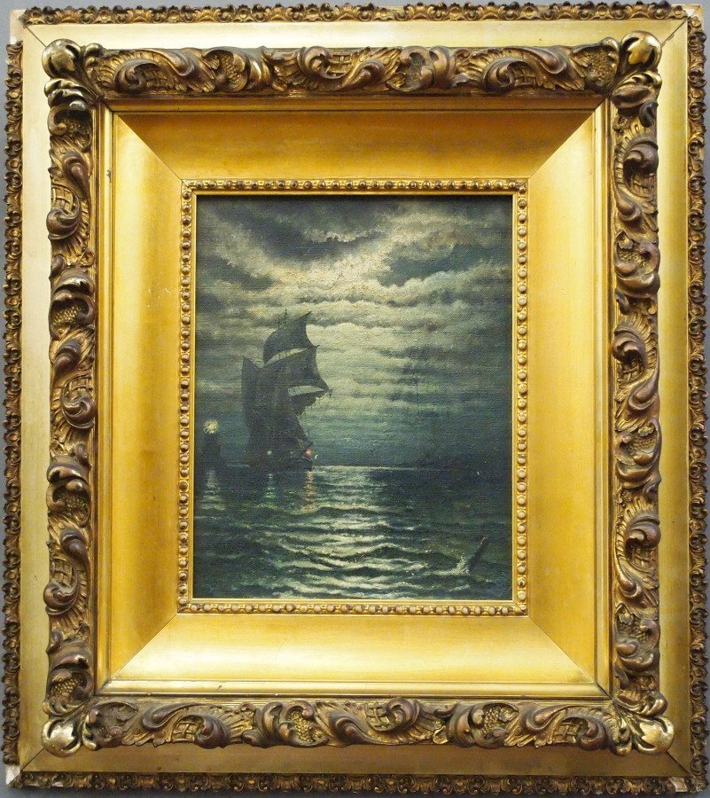 Late 19th c. Nautical Painting