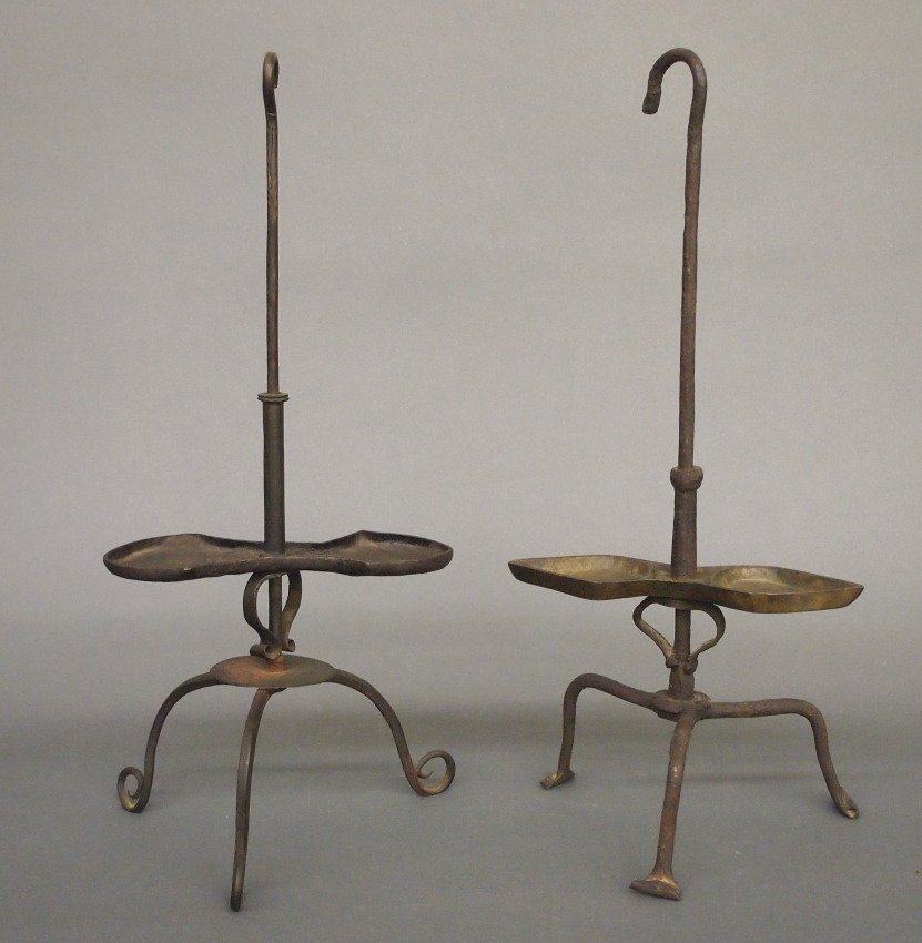 2 Iron grease lamps