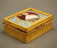 French porcelain box
