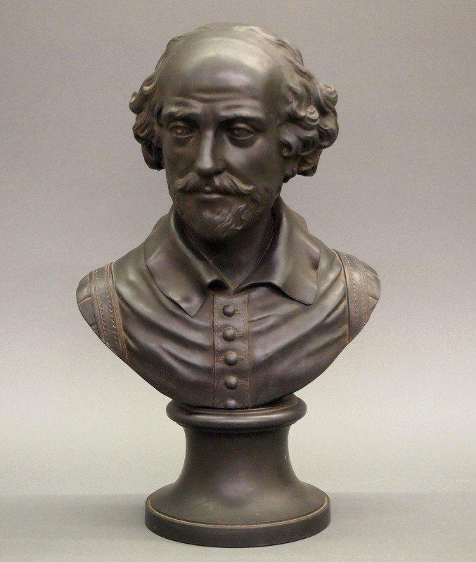 Wedgwood Basalt bust of Shakespeare