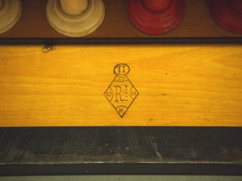 Victorian Traveling games box - 3