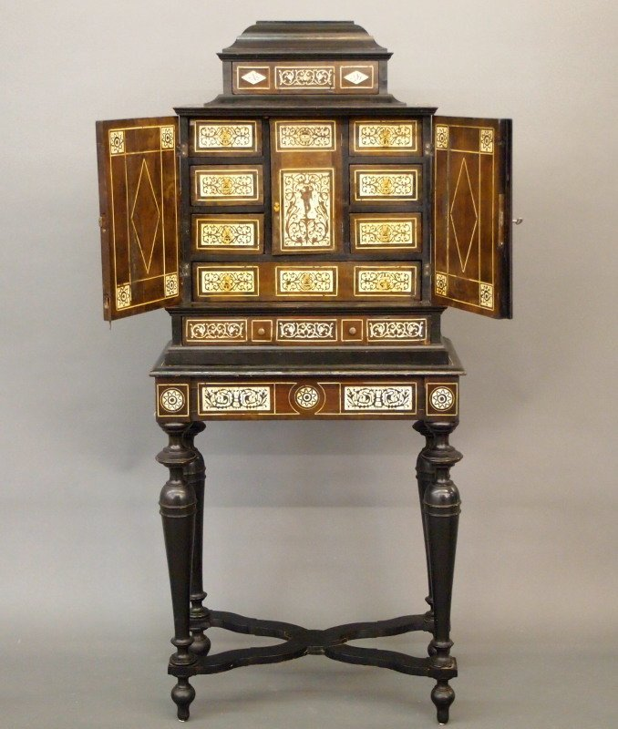 Venetian Inlaid jewelry cabinet