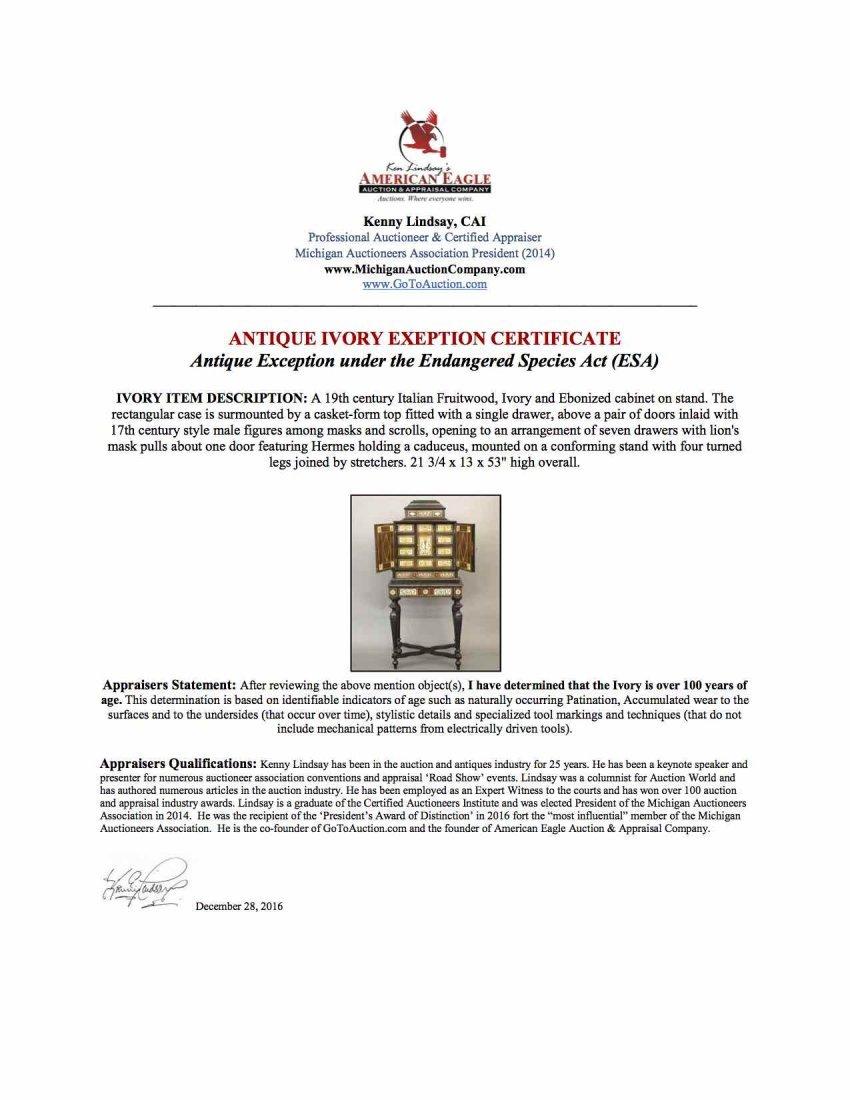 Venetian Inlaid jewelry cabinet - 4