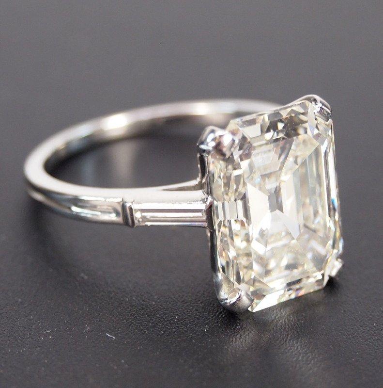 6.72ct Emerald Cut diamond ring