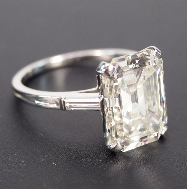 6.72ct Emerald Cut diamond ring