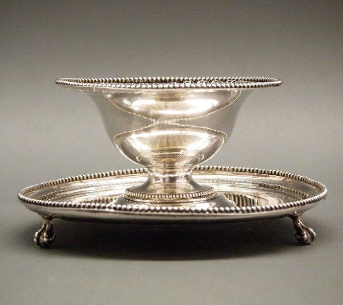 19th c Dutch Sterling sauce bowl