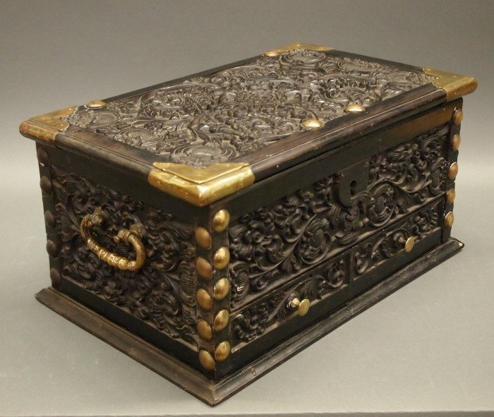 19th c Indian Ebony casket