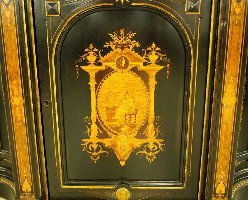 Victorian Inlaid credenza - 2