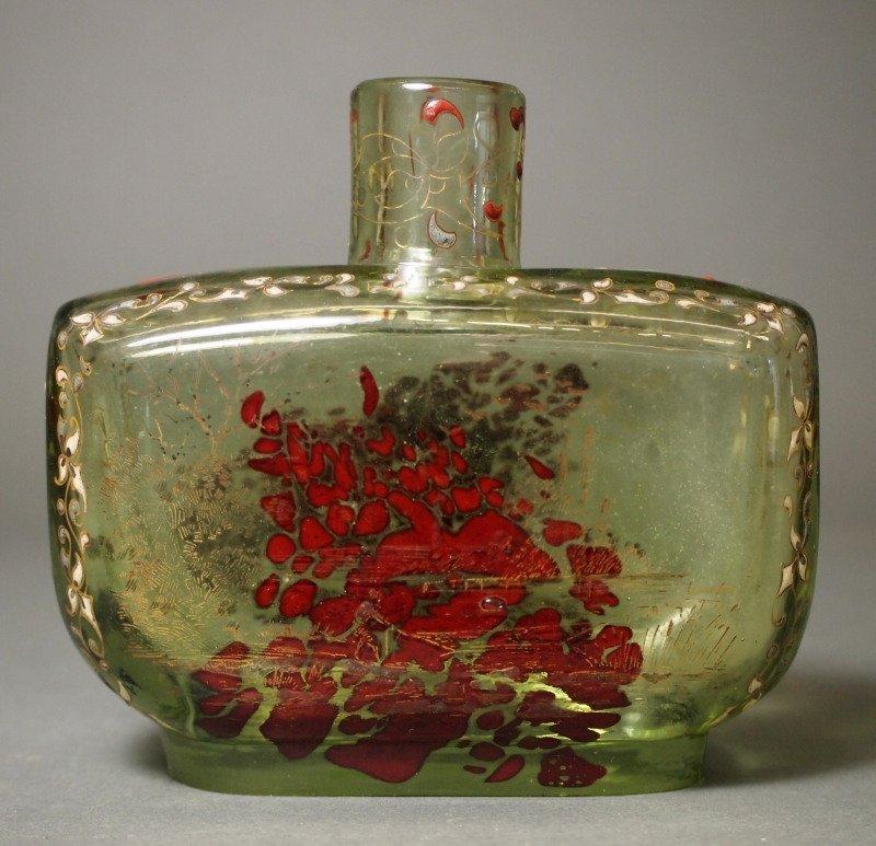 Galle Art Glass enameled perfume bottle