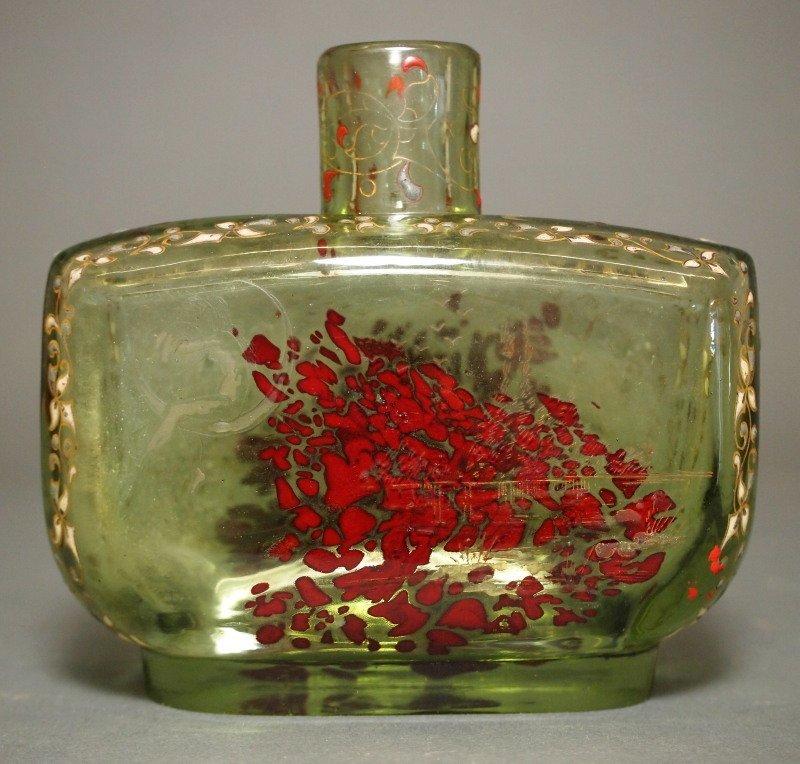 Galle Art Glass enameled perfume bottle - 2