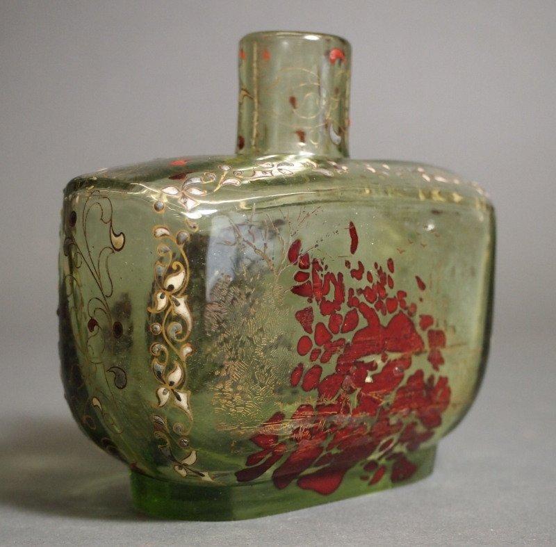 Galle Art Glass enameled perfume bottle - 3