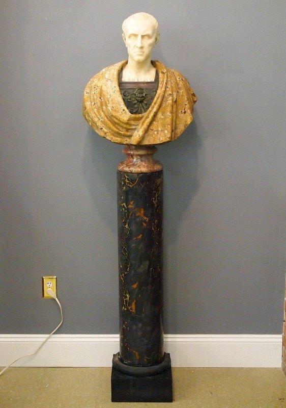 Marble & Bronze bust of Caesar