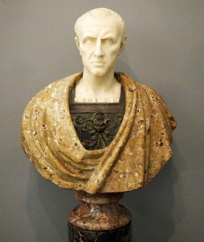 Marble & Bronze bust of Caesar - 2