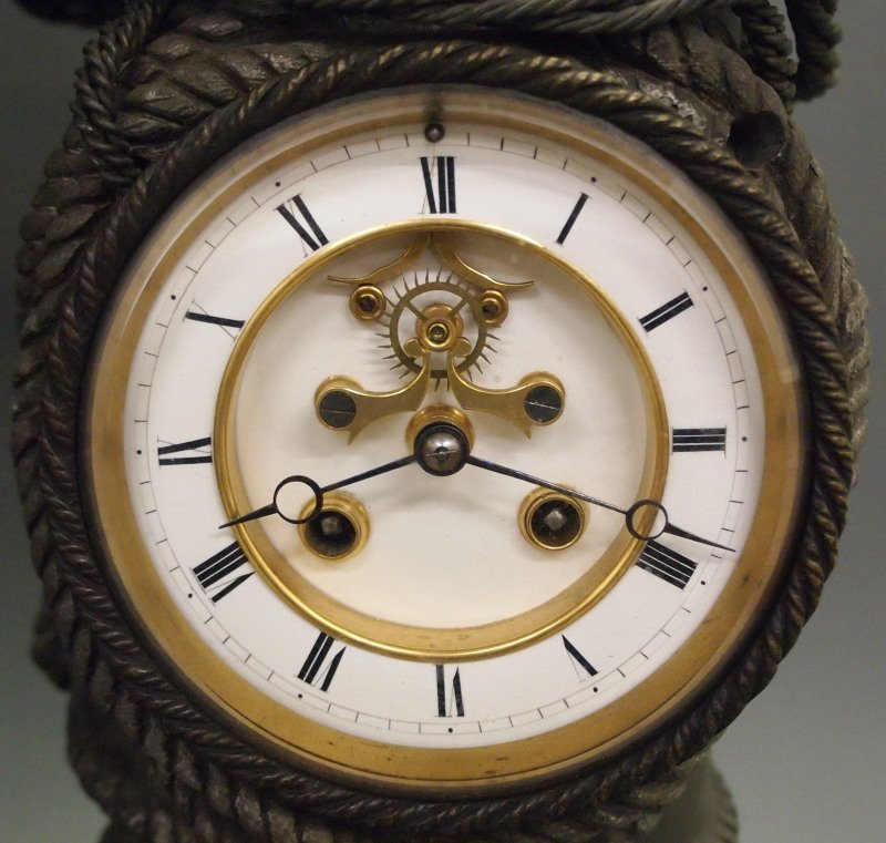 French Ponce de Leon Statue clock - 2