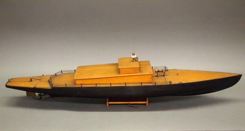 Clockwork pond boat