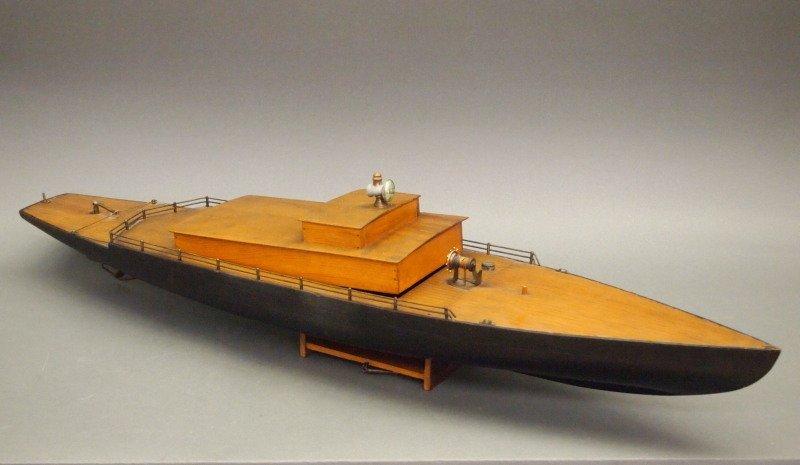 Clockwork pond boat - 2