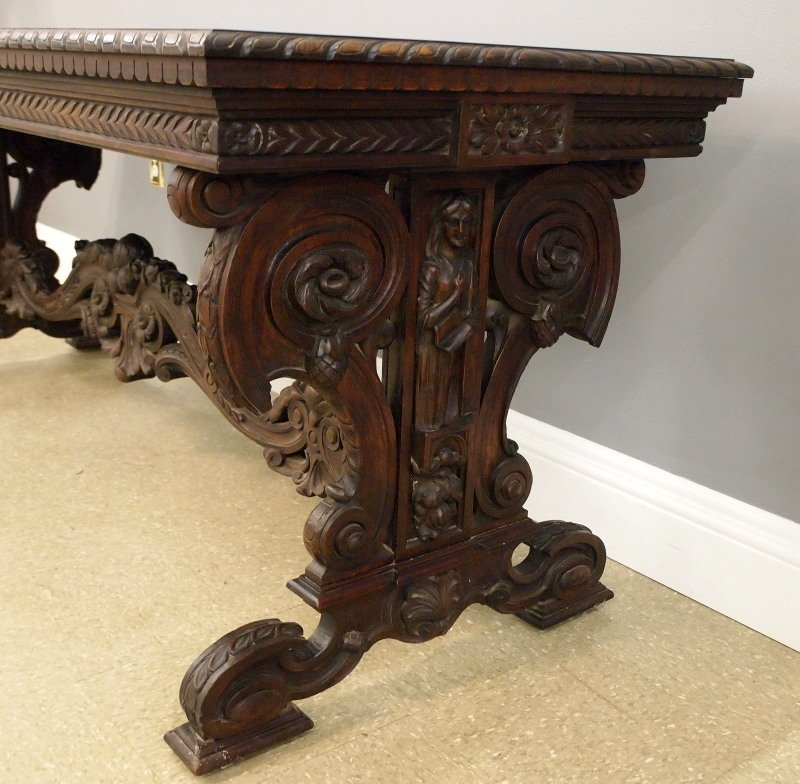 Walnut Library table - 2
