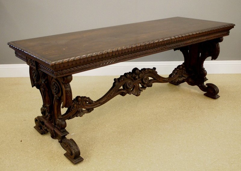 Walnut Library table - 4