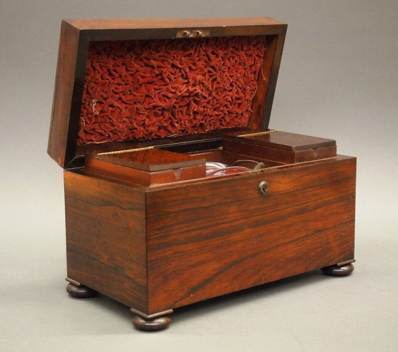 English Rosewood tea caddy
