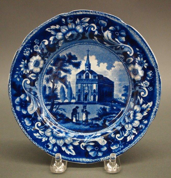 2 Historical Staffordshire plates