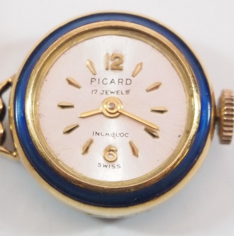 Enamel & 18kt gold pendant watch - 3