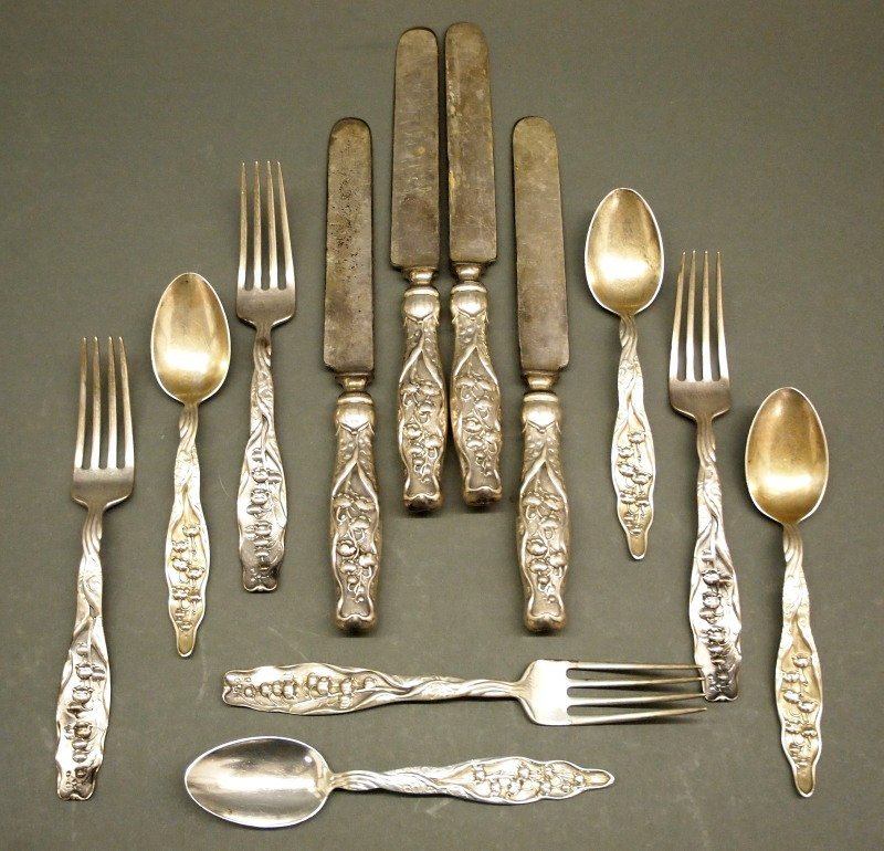 "Whiting ""Lily of the Valley"" Sterling flatware"