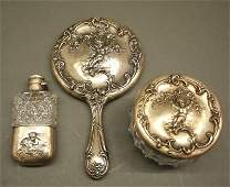 3 pcs American Sterling, Cupid motif