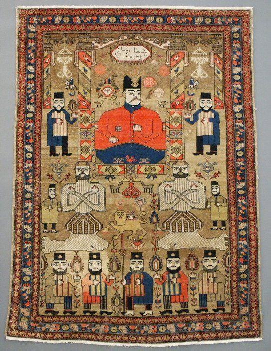 Semi Antique Malayer rug