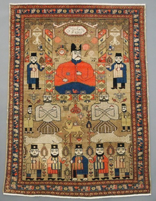 Semi Antique Malayer rug
