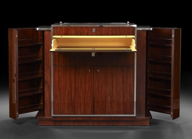 1171 Art Deco Style Dry Bar By Ralph Lauren Lot 1171