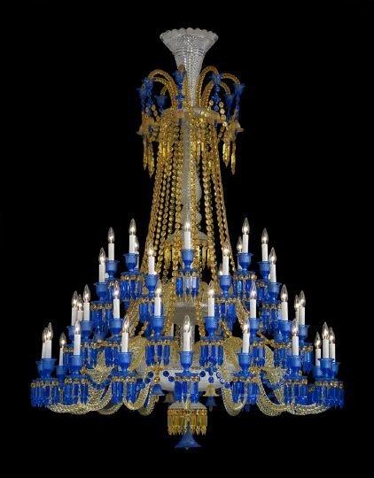 954 baccarat full lead crystal zenith long chandelier lot 954. Black Bedroom Furniture Sets. Home Design Ideas