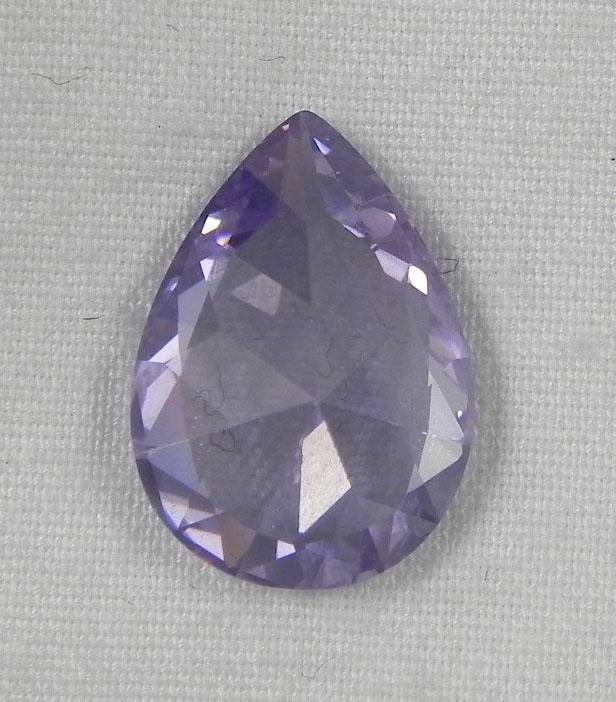 5 56 ct zircon light purple pear gemstone lot