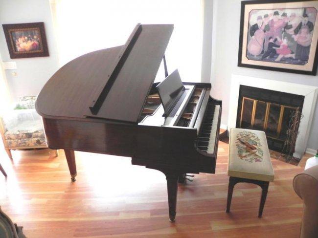 Baldwin Baby Grand Piano Mahogany Vintage Circa 1950 Lot