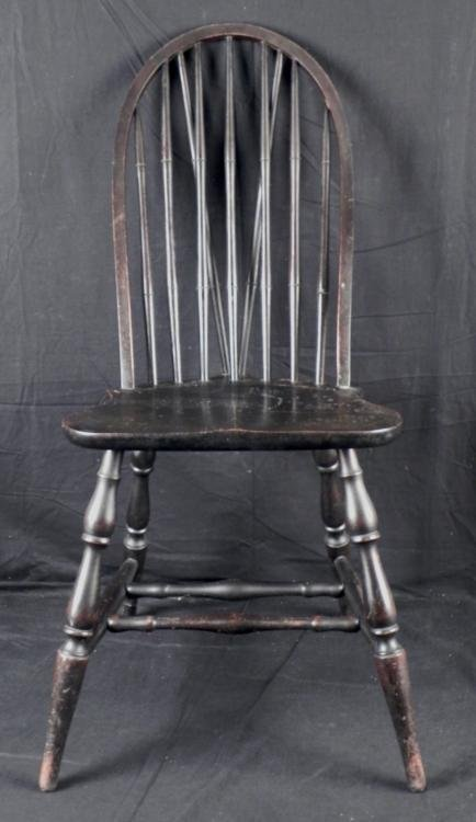 Antique Wooden Spindle Back Chair Lot 600238
