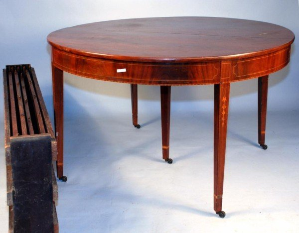 438 Hepplewhite Mahogany Dining Table Lot 438 : 66645882l from www.liveauctioneers.com size 600 x 468 jpeg 42kB