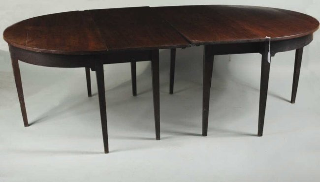 Hepplewhite Mahogany quotDquot End Dining Table Lot 297 : 347384891l from liveauctioneers.com size 650 x 370 jpeg 23kB