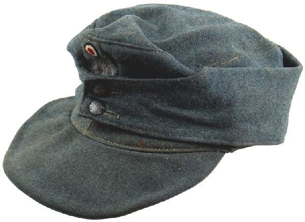 490: German WWII Police M43 EM Field Cap : Lot 490