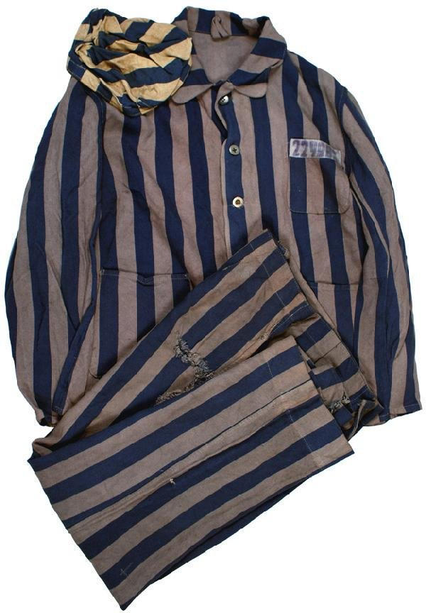 631: German WWII Concentration camp prisoner uniform : Lot 631