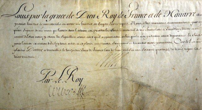 623 signatures on parchment colbert king louis xiv lot 623. Black Bedroom Furniture Sets. Home Design Ideas
