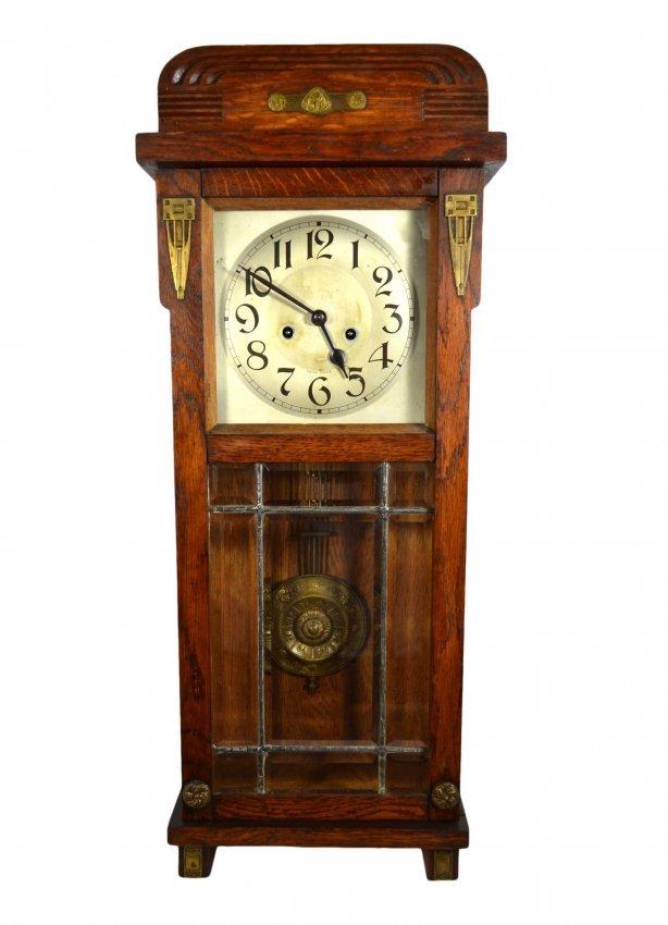 Wall Clock Swiss Face Beveled Glass Alix Lot 999